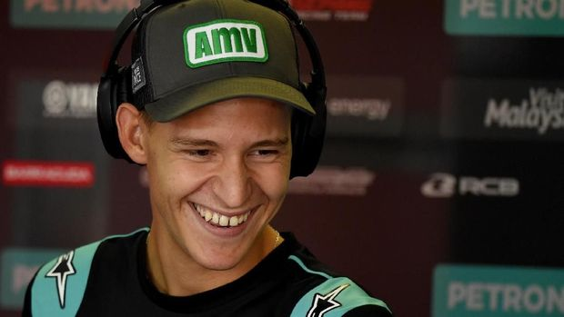 Fabio Quartararo mencatatkan waktu tercepat kedua setelah Marc Marquez di kualifikasi MotoGP Aragon. (