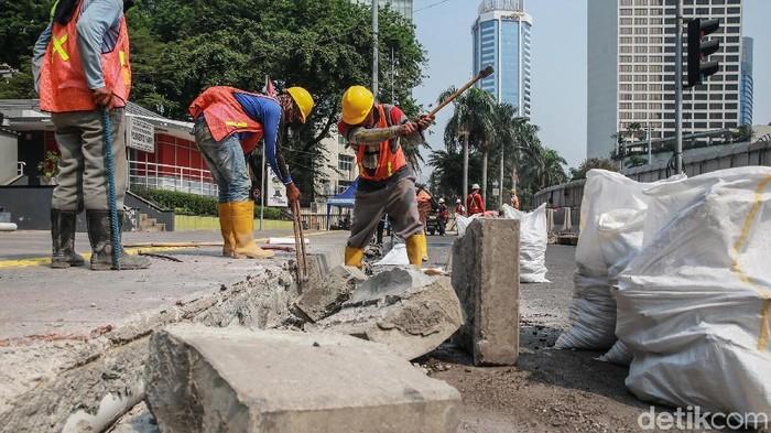 Ilustrasi Proyek Revitalisasi Trotoar (Ari Saputra/detikcom)