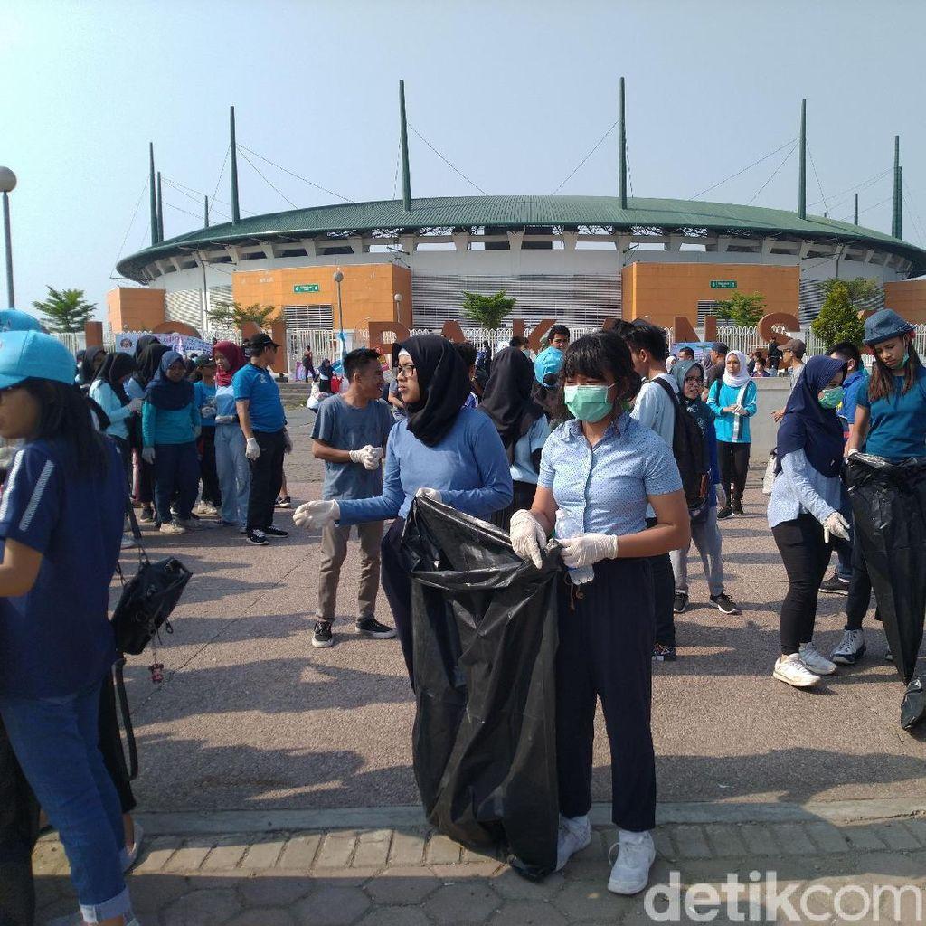 World Cleanup Day 2019, Pemkab Bogor Bersih-Bersih Stadion Pakansari