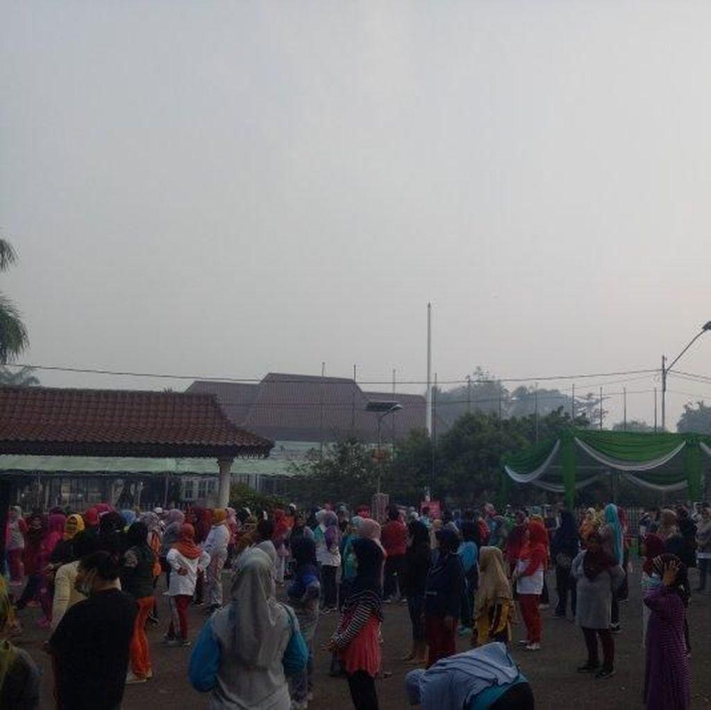 Meski Diselimuti Kabut Asap, Warga Tetap Ramaikan Car Free Day Palembang