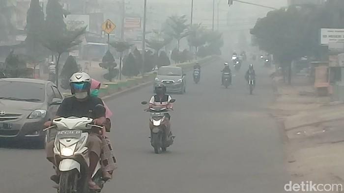 Kabut Asap di Kota Jambi (Ferdi/detikcom)