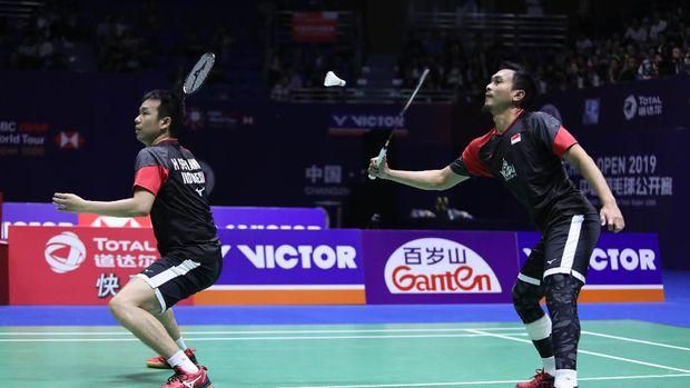 Ahsan/Hendra bersua Kevin/Marcus di final Denmark Open. (