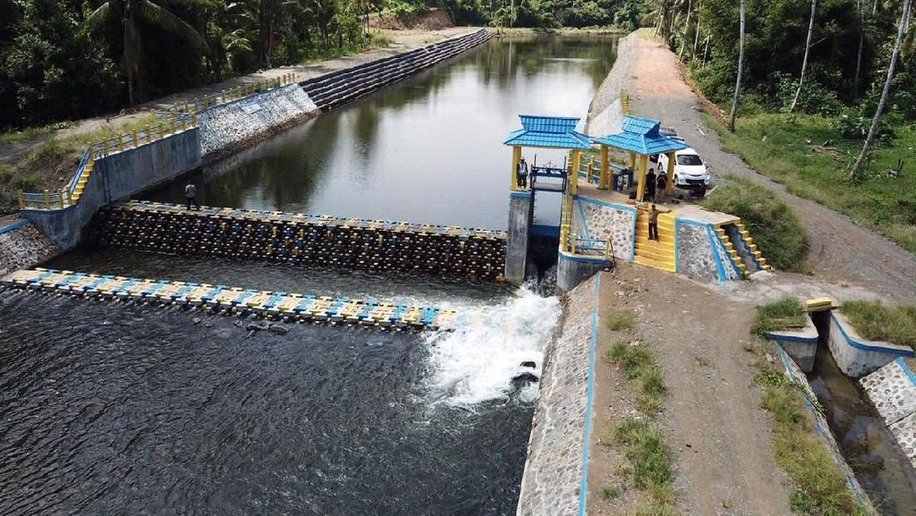 RI Punya Teknologi Penahan Air Bentuknya Blok-blok Beton