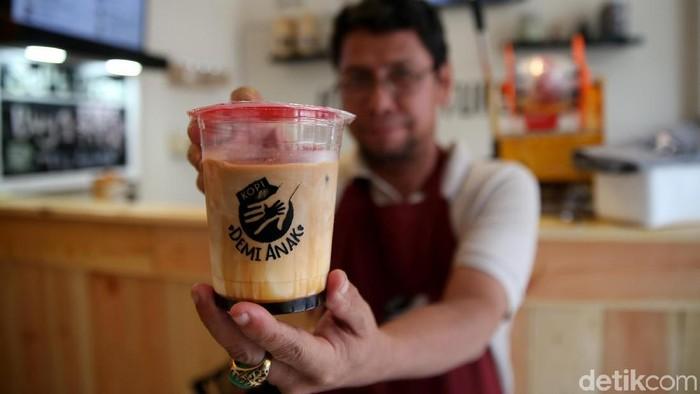 Kedai kopi difabel di Bekasi. Foto: Rachman Haryanto/detikHealth