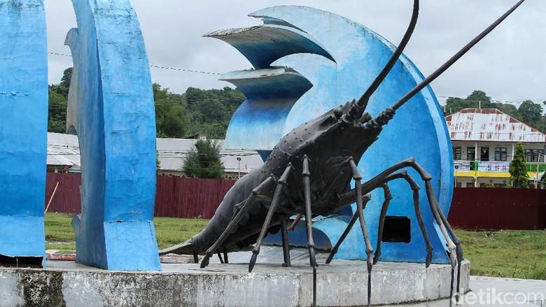 Tugu Lobster di Simeulue (Rifkianto/detikcom)