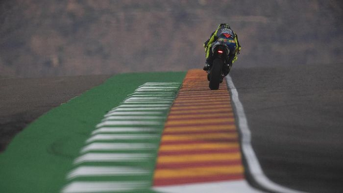 Valentino Rossi start dari posisi enam di MotoGP Aragon. (Foto: Mirco Lazzari gp/Getty Images)