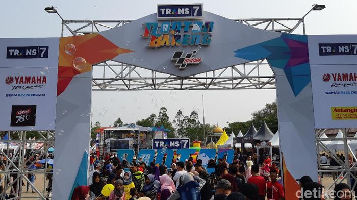 Nobar MotoGP Aragon 2019 di Serang (Bahtiar Rivai/detikSport)