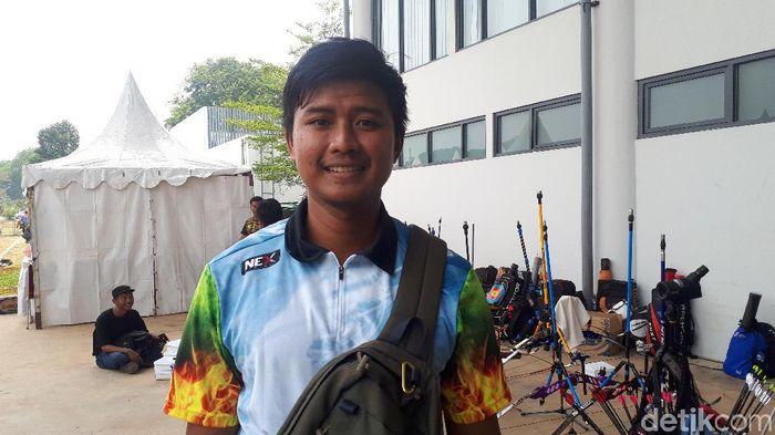 Riau Ega Salsabila saat tampil di Kualifikasi PON 2020 di GBK, Jakarta pekan ini. (Mercy Raya/detikSport)