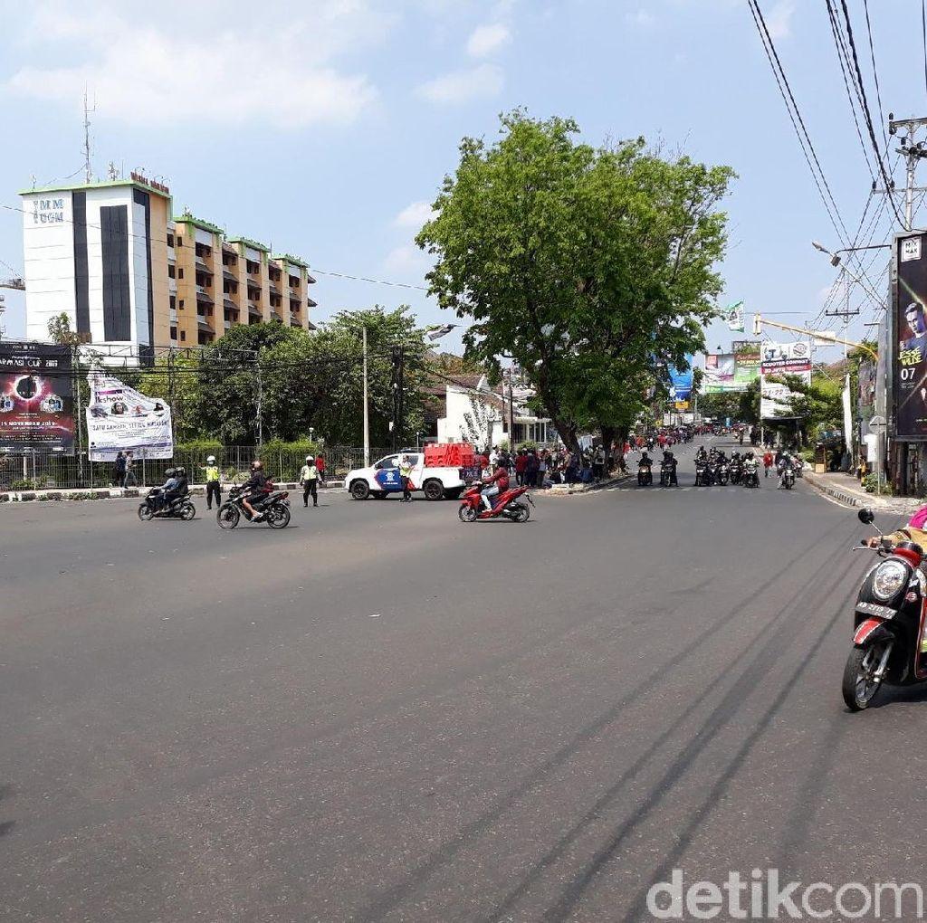 Ada Demo di Gejayan Sleman, Polisi Berlakukan Sistem Buka Tutup