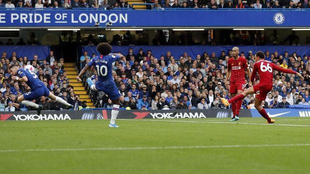 Chelsea saat kalah 1-2 dari Liverpool di Stadion Old Trafford. (