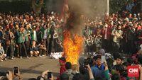 Demonstasi mahasiswa menolak RKUHP di Bandung, Jawa Barat