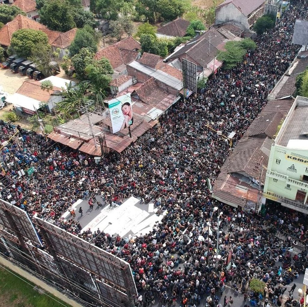 Penampakan Massa Aksi Gejayan Memanggil dari Udara