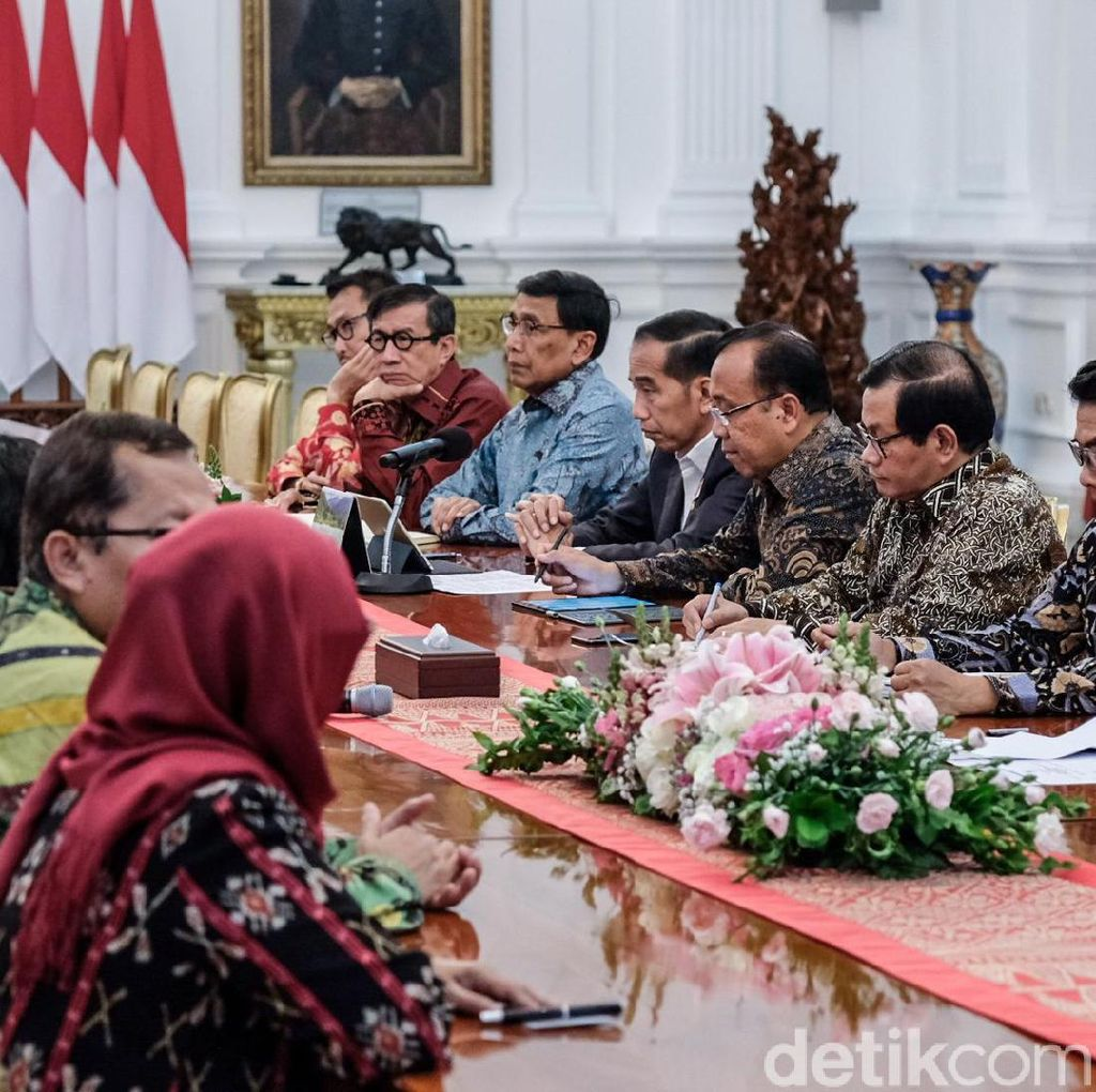 Bamsoet-Fahri Hamzah Temui Jokowi di Istana Bahas RUU KUHP