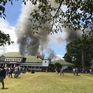 Aksi di Wamena Berujung Ricuh, Pasokan Listrik Terganggu