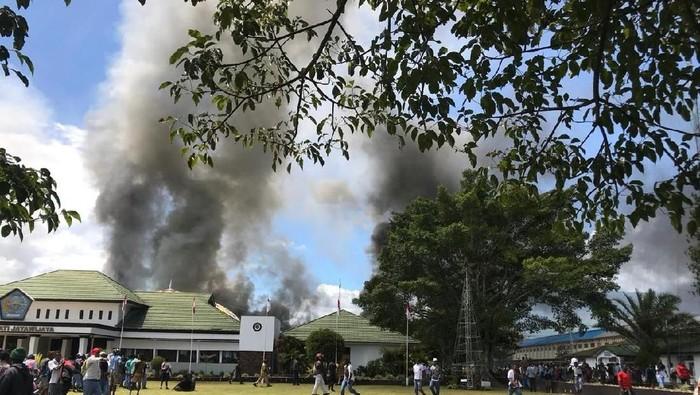 Foto: Rusuh di Wamena. (Dok Istimewa).