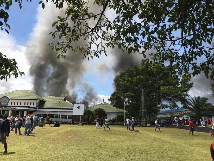 Kerusuhan di Wamena/Foto: Istimewa