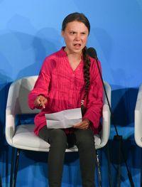 Ekspresi wajah marah Greta Thunberg di KTT Iklim PBB.