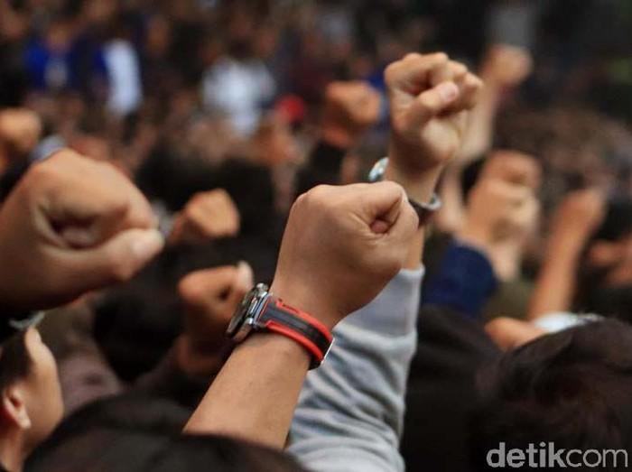 Ini 7 Tuntutan Mahasiswa yang Demo di Depan DPR/Foto: Rico Bagus