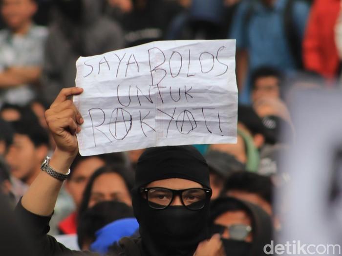 Demo mahasiswa tolak RUU KUHP (rico/detikcom)