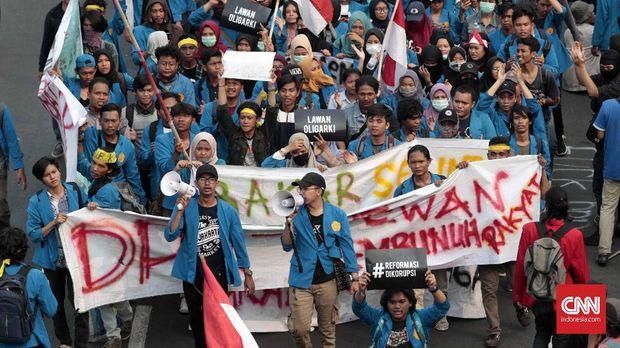 demo mahasiswa di DPR
