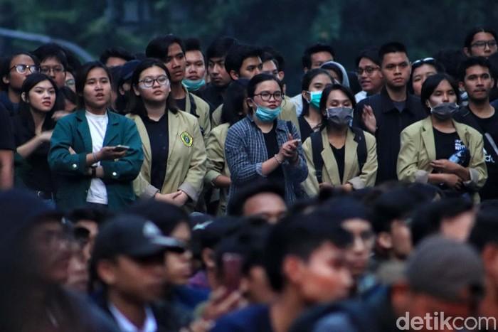 Foto ilustrasi demonstrasi mahasiswa. (Rico Bagus/detikcom)