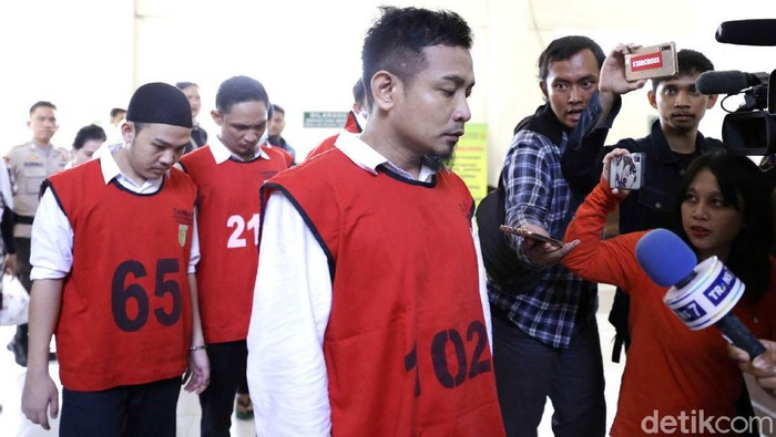 Zul Zivilia saat menjalani persidangan di PN Jakarta Utara.