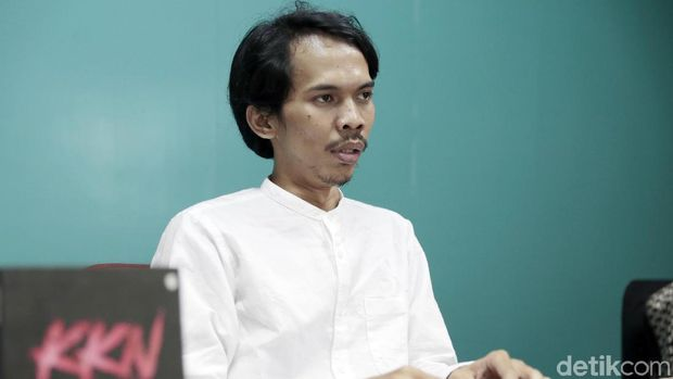 Penerbit novel 'KKN di Desa Penari' saat berkunjung ke kantor detikcom.