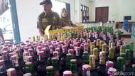 626 Botol Miras Disita dari Sebuah Warung di Kudus