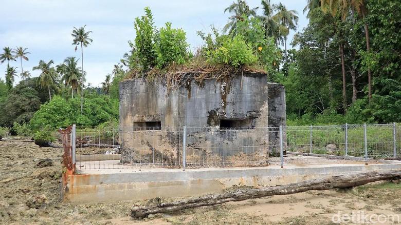 Bangunan peninggalan Jepang di Simeulue Barat (Randy/detikcom)