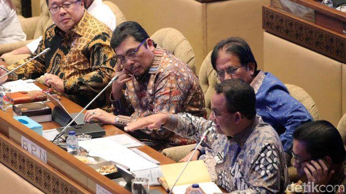 Rapat pembahasan ibu kota baru di DPR/Foto: Lamhot Aritonang