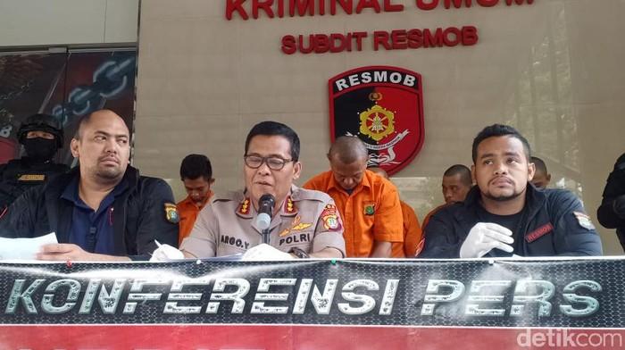 Konferensi pers di Polda Metro Jaya (Foto: Samsudhuha/detikcom)