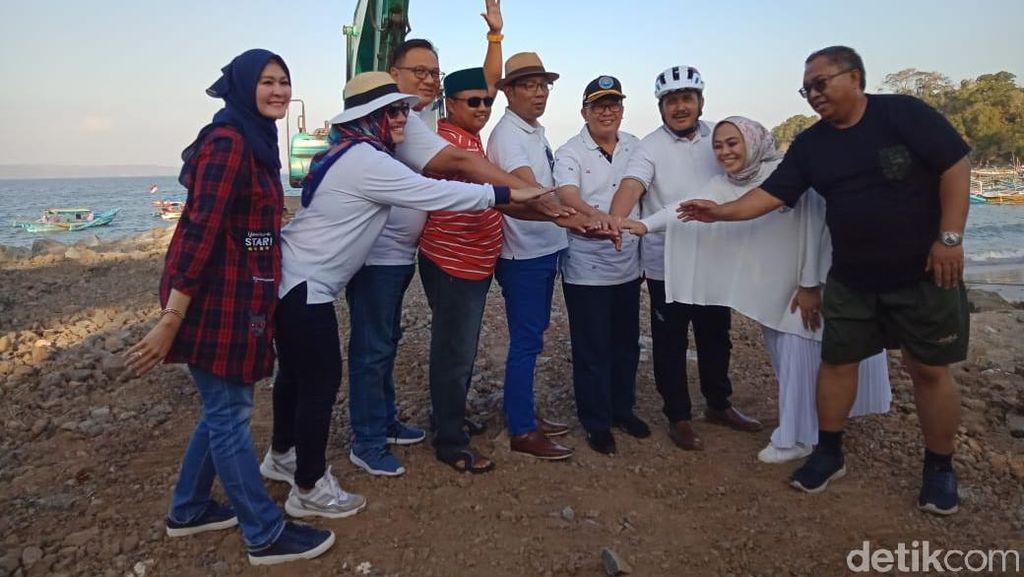 Ridwan Kamil dan Kepala Daerah se-Jabar Kopdar di Pantai Pangandaran