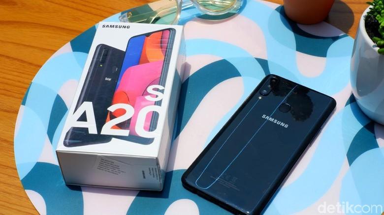Inilah Galaxy A20s (Foto: Adi Fida Rahman/detikINET)