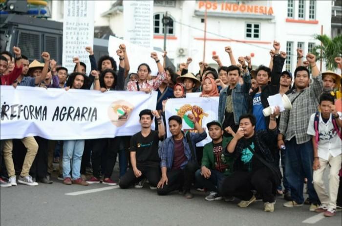 Aksi mahasisiwa dan pemuda memperingati Hari Tani Nasional 2019 (Foto: istimewa)