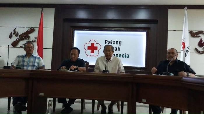 Konferensi pers PMI. (Farih Maulana/detikcom)