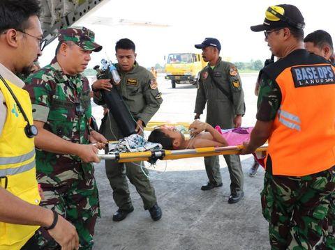 TNI AU Evakuasi 14 Korban dan Pengungsi Pascarusuh di Wamena
