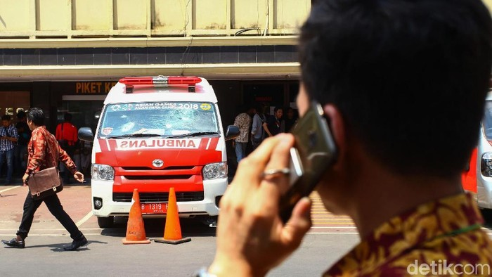 Ambulans yang sempat diamankan polisi (Rifkianto Nugroho/detikcom)