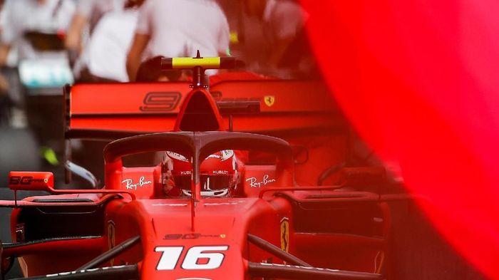 Charles Leclerc (Ferrari) tercepat di free practice I GP Rusia. (Foto: Maxim Shemetov / Reuters)