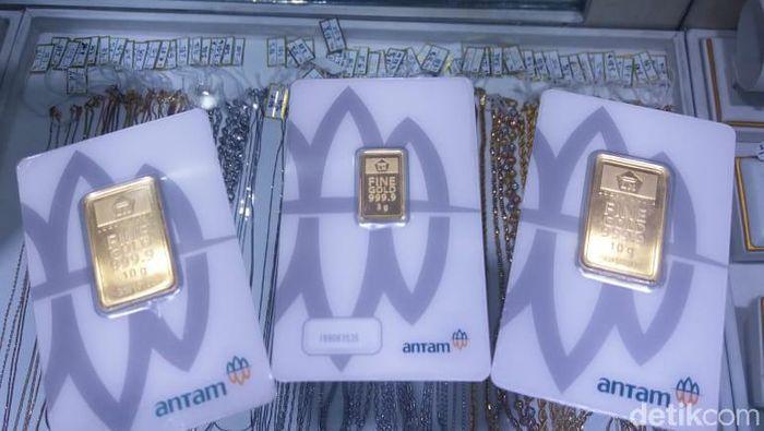 Foto: Emas Antam di Pasar Emas Cikini (Anisa Indraini/detikcom)