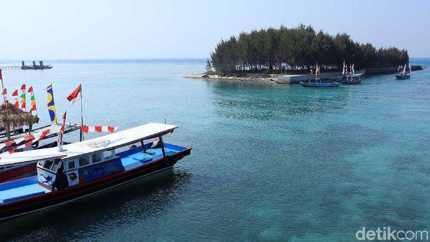 Pulau Tidung di Kepulauan Seribu.
