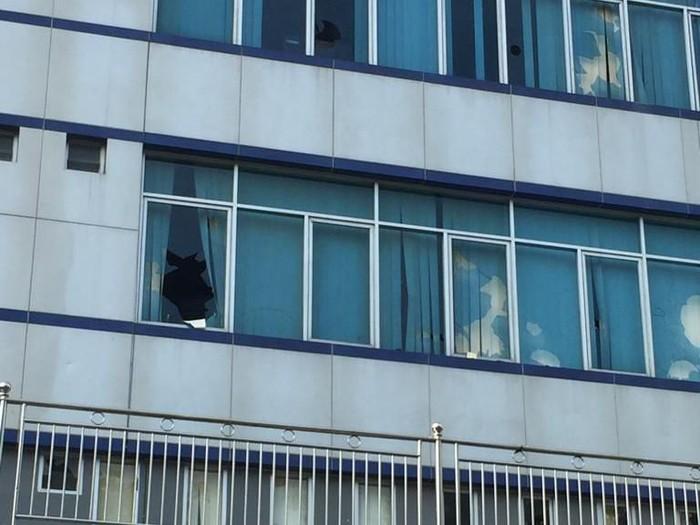 Kerusakan di gedung DPRD Kota Medan (Foto: Khairul Ikhwan Damanik/detikcom)