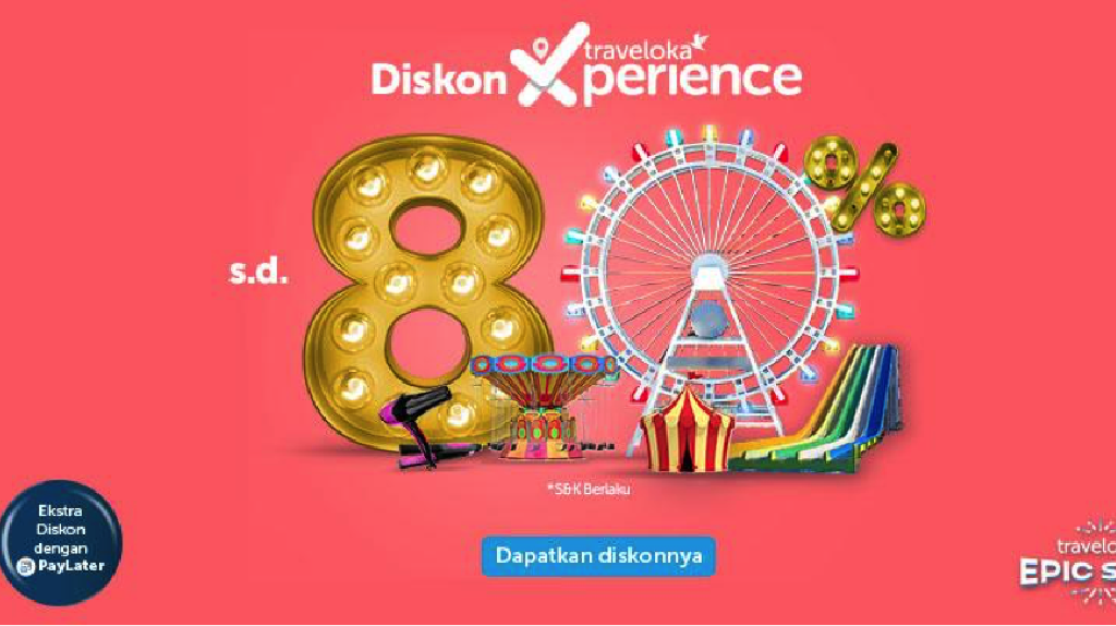 Traveloka Xperience Banting Harga Produknya di Epic Sale 2019!