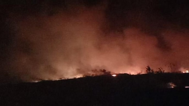 Lahan Gambut Terbakar di Bandara Kertajati Diperkirakan 20 Hektare