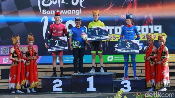 Robbie Hucker juara Tour de Banyuwangi 2019 (Ardian Fanani/detikSport)