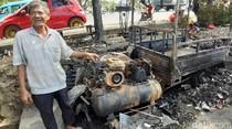 Kakek Ini Jadi Korban Demo Ricuh di Makassar, Tambal Ban Ludes Terbakar