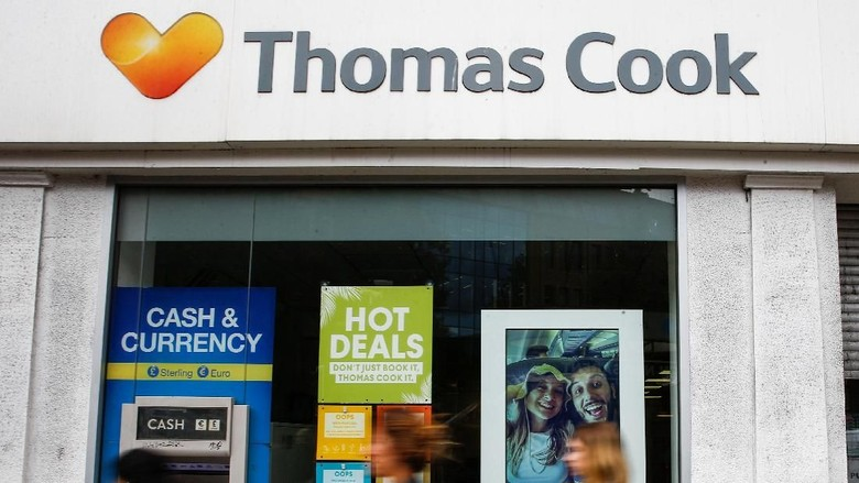 Thomas Cook bangkrut. (Foto: Henry Nicholls/Reuters)