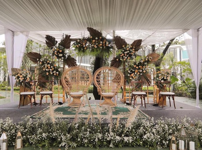 Ilustrasi dekorasi pernikahan. Foto: Instagram/@kavastudio.id