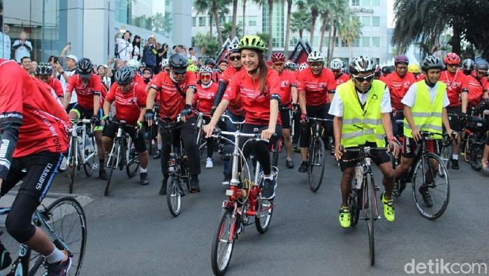 Bersepeda bisa kurangi risiko terserang penyakit jantung. (Foto: Nabila Ulfa Jayanti/detikHealth)