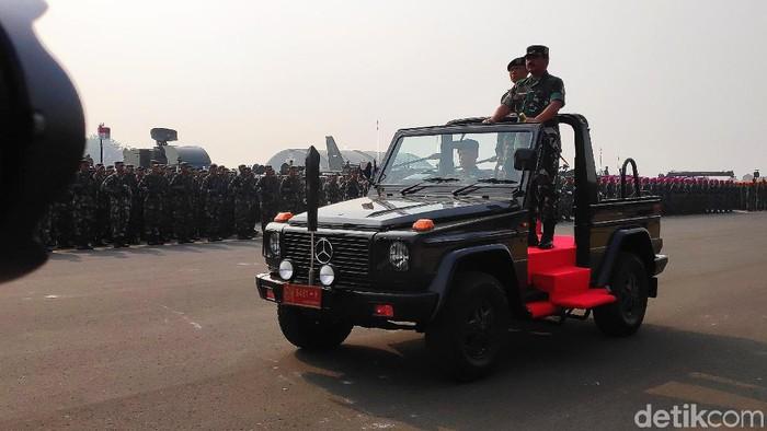 Foto: Panglima TNI Marsekal Hadi Tjahjanto (Matius Alfons/detikcom)