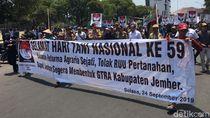 Ribuan Petani di Jember Demo Tuntut Realisasi Reforma Agraria